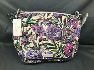 Vera Bradley Carson Shoulder Bag Lavender Meadow NEW WITH TAGS!