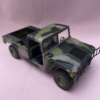 "2003 AM General Army Camo Humvee Toy Truck Model 11""  Open Back"