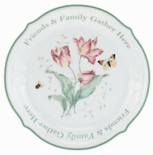"""New! Lenox Butterfly Meadow Sentiment Platter""""Friends & Family Gather Here"""""""