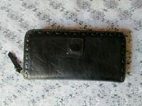 DOONEY & BOURKE WALLET, Black Leather Florentine Clutch Continental Wallet EUC