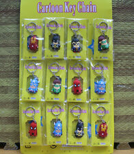 the avengers silicone keychain rubber key chain gift  wholesales 12pcs a lot