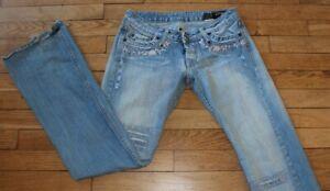 P&Y Denim Jeans pour Femme W 28 - L 32 Taille Fr 38 MYRIAME  (Réf #S241)