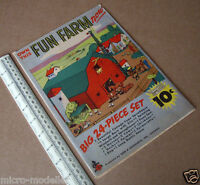 1940s Fun Farm (not The Funny Farm) Press-Out Model in an Envelope. Chicago USA