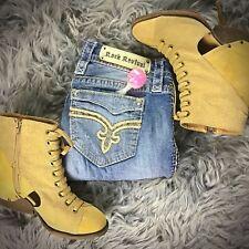 Buckle ROCK REVIVAL Vivian Bling Cuffed Crop Capri Jeans 25x20