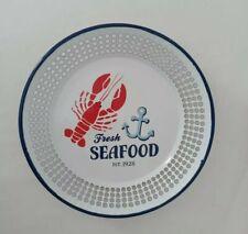 Fresh Seafood Lobster Enamel Ware Colander Serving Dish Platter Bowl Nautical