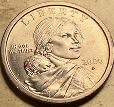 Sacagawea Cheerios Dollar Shot Mint Mark Recessed Vein Detailed Even Feathers