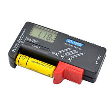 EP_ Digital LCD Battery Tester Volt Checker For 9V 1.5V AA AAA Cell BT-168D Easy