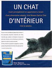 PUBLICITE ADVERTISING 045  2003  VITAL BALANCE  aliment pour chat