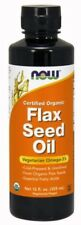 Organic Flax Seed Oil 12 oz, Now Foods,Vegetarian Alternative for Omega-3
