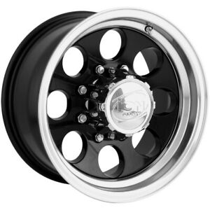 "Ion 171 17x9 8x6.5"" +0mm Black Wheel Rim 17"" Inch"