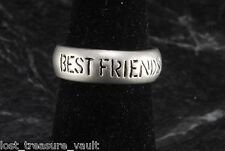 Best Friends Ring Aluminum Metal Size 7.5 Ladies Band Style Jewelry