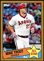 Mike Trout 2020 Topps 1985 35th Anniversary All-Stars 5x7 Gold #85AS-1 /10 Angel