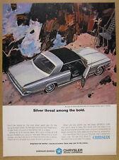 1964 Chrysler SILVER 300 car illustration art vintage print Ad