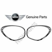 For Mini Cooper Countryman Pair Set of 2 Chrome Headlight Trim Rings Genuine