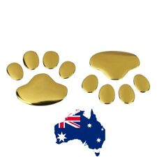 Gold  Pet Dog  Paws  Emblem 3D Car Motor Decal Bumper Sticker Australia
