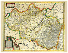 Aragon Huesca Zaragoza Teruel Pyrenees Spain illustrated map Hondius ca.1633