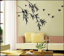Bamboo Birds Nature Vinyl Wall Paper Decal Art Sticker Q124