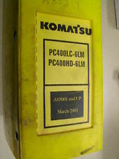 Komatsu PC400LC-6LM & HD PARTS BOOK MANUAL CATALOG EXCAVATOR HYDRAULIC BINDER