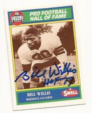 Bill Willis 1990 Swell # 100 Autographed / Signed Card Cleveland Browns