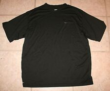 Nike Mens Xl Fit Dry Short Sleeve Black Athletic Work Out Shirt