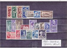 1949 TRIESTE A  ANNATA   22 VALORI  LINGUELLATI CON TRACCIA LEGGERA