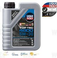 Liqui Moly 5w30 Top Tec 4600 Engine Oil ACEA C3 SN/CF BMW-LL VW MB 2316 1 L