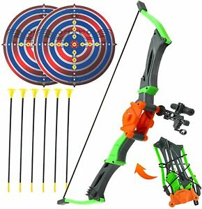Bow and Arrow Toy for Kids, Outdoor Archery Set for Boys and Girls 3-12 Years Ol