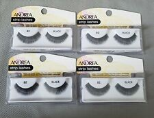 Andrea Strip Lashes Black Style # 82 4 Pairs New
