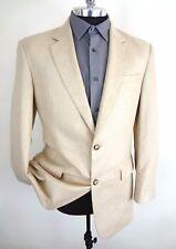 Jos A Bank Blazer Tweed Beige Size 41L All Silk 2 Button Butter Cream Luxury