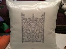 """Pillows, set of 3, from Bombay and company, 20x20"""", NWt, cream with silver"""
