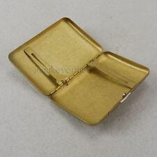 Vintage Look 16 pcs Thin Slim Plain Copper Brass Wiredrawing Cigarette Case Box