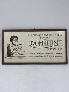 Alte Werbung von Ovomaltine / Radierung