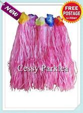 Girls Hawaiian Hula Luau Grass Skirt Floral Waist Band Multi-Colours 40Cm