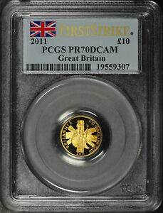 2011 Great Britain £10 Gold Britannia 1/10 oz PCGS PR-70 DCAM First Strike