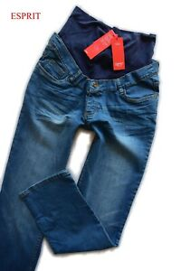 Esprit Umstands Jeans Gr.36 short FLARE blau Hose NEU Maternity NEU 79,95€