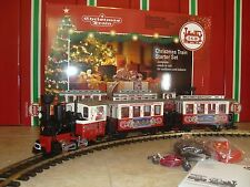 LGB 72304 CHRISTMAS PASSENGER TRAIN STARTER SET W/SMOKE! COMPLETE & NEW IN BOX!!