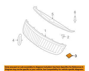 Lincoln FORD OEM 07-12 MKZ Grille Grill-Air Deflector Nut N802539S100
