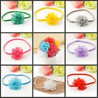 10Pcs Baby Girl Infant Toddler Soft Flower Headband Chiffon Headwear Hair Band
