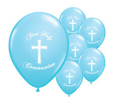 """40 x BLUE FIRST HOLY COMMUNION 12"""" HELIUM BALLOONS PARTY DECORATIONS  (PA)"""