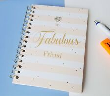 Fabulous Friend Spiral A5 Notebook Pink Hard Cover Notebook