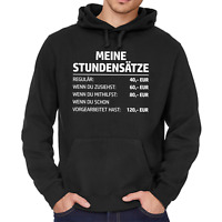 MEINE STUNDENSÄTZE Stundensatz Handwerker Mechaniker Fun Kapuzenpullover Hoodie