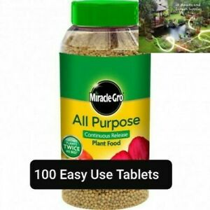 100 x Fast Growing Miracle Gro All Purpose Slow Release Plant Food Capsules.