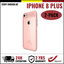 2IN1 Focus Cover Cas Coque Etui Silicone Hoesje Case For iPhone 8 Plus Pink