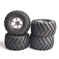 4X 135mm Rubber Tires&Wheel Rims 12mm Hex For RC 1:10 Bigfoot Monster Truck Car
