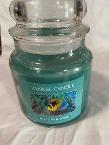 Yankee Candle Medium Blue Paradise Candle 14.5oz NEW