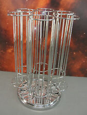 KEURIG K-CUP POD SPINNING CAROUSEL DISPENSER RETAIL RACK STAND COUNTERTOP CHROME