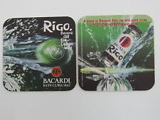 Beer Coaster ~ BACARDI Rum Rigo <> Blended with Pure Limes and Soda  ~ From CUBA