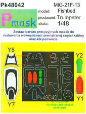 MiG-21F-13 Fishbed Pintura Máscara para Trumpeter KIT #48042 1/48 pmask