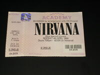 NIRVANA - MAGNIFICENT GENUINE ORIG 1994 ACADEMY UNUSED CONCERT TICKET AWESOME!!