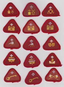 UK Cub Scout fifteen obsolete Proficiency badges, including varieties.